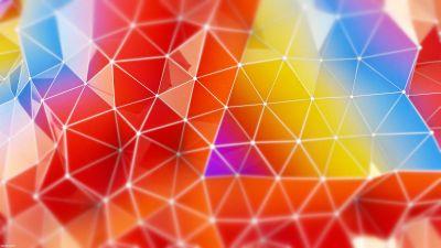 Colorful, Triangles, Geometric, Gradients, Multi color, Polygonal