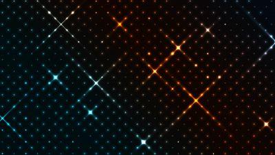Pattern, Glowing, Colorful, Dark, Dots