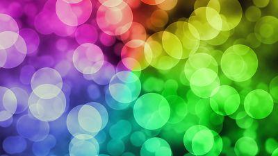 Bokeh, Colorful, Lights, Rainbow, 5K
