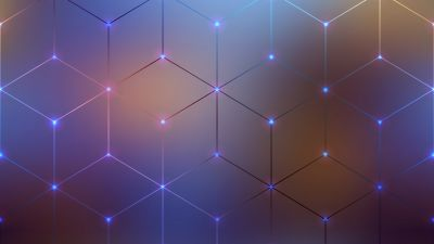 Polygons, Geometric, Blur background, Connected dots, Electromagnetic, Aesthetic