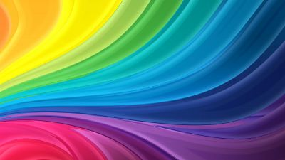 Rainbow colors, Colorful, Multi color, Waves, Aesthetic, 5K