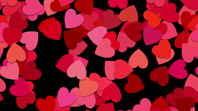 Love hearts, Red hearts, Girly backgrounds, 5K