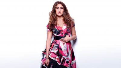 Sara Ali Khan, Bollywood actress, White background, Beautiful actress, Photoshoot, 5K, 8K