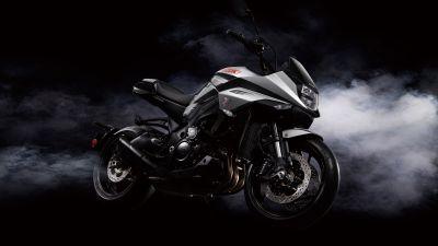 Suzuki GSX-S1000S Katana, Black background, Smoke, 5K, 8K
