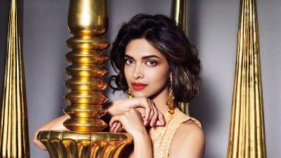 Deepika Padukone, Indian actress, Traditional, Portrait, Beautiful actress, 5K