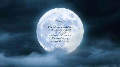 Sacrifice, Popular quotes, Moon, Clouds, Night, Dark, Inspirational