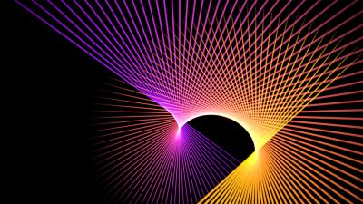 Patterns, Multicolor, Black background, Lines, Colorful, Glowing lines
