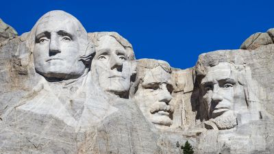 Mount Rushmore, Presidents, South Dakota, Black Hills, Blue Sky, George Washington, Thomas Jefferson, Theodore Roosevelt, Abraham Lincoln