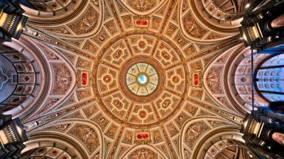 Kunsthistorisches Museum, Ceiling, Austria, Vienna, Indoor, Lights, Ancient architecture, 5K, 8K