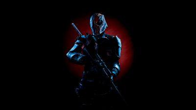 Deathstroke, Black background, DC Comics, Cosplay, 5K