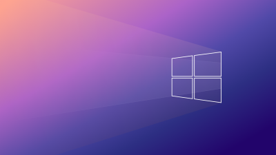 Windows 10, Gradient background, Minimal, Aesthetic, 5K