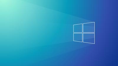 Windows 10, Gradient background, Minimal, 5K