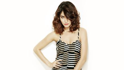 Anushka Sharma, Indian actress, Bollywood actress, White background, 5K
