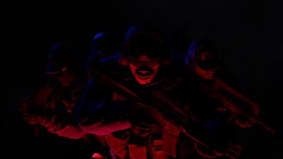 CS GO, Counter-Strike: Global Offensive, The FBI, Black background, AMOLED