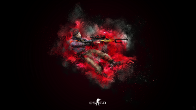 CS GO, Counter-Strike: Global Offensive, Splash, Dark background