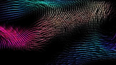 Drift, macOS Catalina, Colorful, Waves, Black background, AMOLED