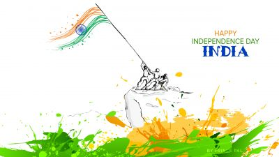 Independence Day, India, August 15th, Tricolor, Indian Flag, White background, 5K