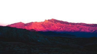 Purple Mountains, Nevada, Rocky Mountains, Shadow, Sunlight, Daytime, Contrast, 5K