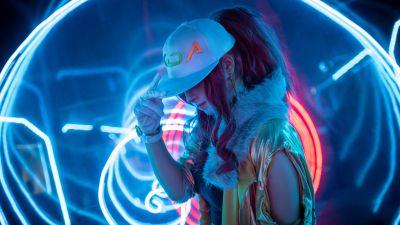 KDA Akali, League of Legends, Cosplay, Neon