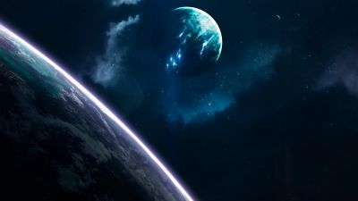 Planets, Earth, Blue, Galaxy, Universe, Stars