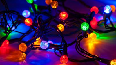 Party lights, Christmas lights, Colorful
