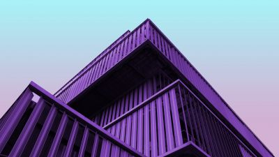 Modern architecture, Contemporary, Purple, Building, Clear sky