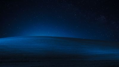 Windows XP, Landscape, Hills, Dark, Night, Blue, Stock