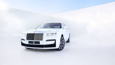 Rolls-Royce Ghost, 2020, White background, 5K, 8K