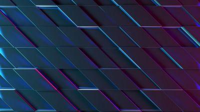 3D background, Neon, Ultraviolet, Purple
