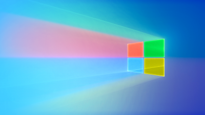 Windows 10, Windows logo, Colorful, Glossy, Gradient background
