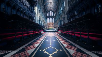 Ely Cathedral, Church, England, Ancient architecture, United Kingdom, Peaceful, Interior, Symmetrical, Heritage, 5K, 8K