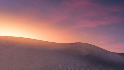 Desert, Sand, Canary Islands, Spain, Sunlight, Stars, Landscape, 5K