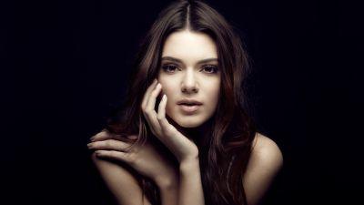 Kendall Jenner, American model, Portrait, Black background