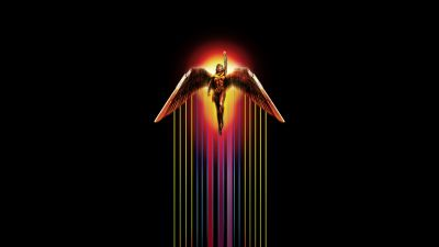 Wonder Woman 1984, DC Comics, Black background, 2020 Movies, 5K, 8K