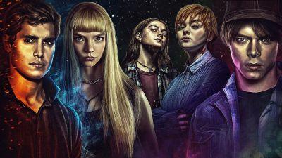 The New Mutants, Maisie Williams, Anya Taylor-Joy, Charlie Heaton, Henry Zaga, Blu Hunt, Marvel Superheroes, 5K