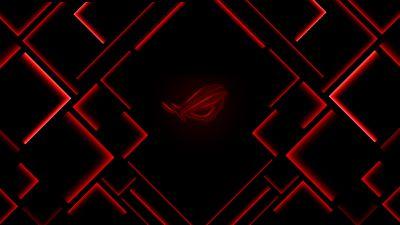 ASUS ROG, Ambient lighting, Red lighting, Dark background