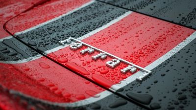 Ferrari, Logo, Emblem, Droplets, 5K