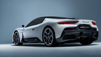 Maserati MC20, Sports cars, Rear View, 2021, 5K
