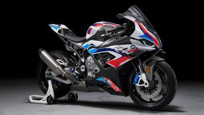 BMW M 1000 RR, Race bikes, 2021, Black background, 5K
