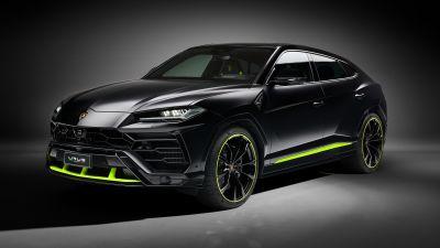 Lamborghini Urus Graphite Capsule, 2021, Dark background, Black cars, 5K, 8K
