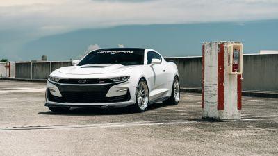 Chevrolet Camaro, White cars, 5K, 8K