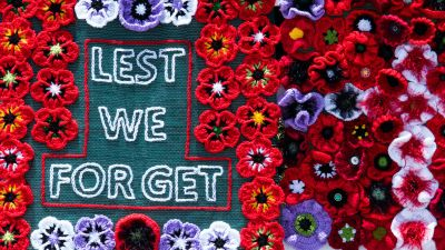 Lest We Forget, Woolen Flowers, Floral designs, Embroidered Flowers, Red poppies, 5K