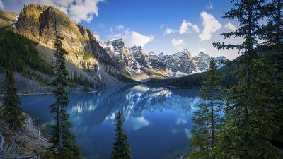 Moraine Lake, Banff National Park, Mountains, Daytime, Scenery, Alberta, Canada