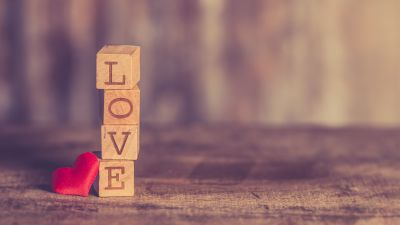 Love heart, Wooden Blocks, Red heart, Wooden letters, Creative, 5K