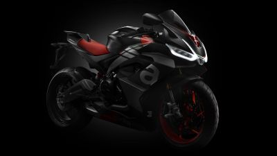 Aprilia RS 660, Sports bikes, Black background, 2021, 5K