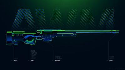 AWM, Sniper rifle, PUBG MOBILE, PlayerUnknown's Battlegrounds