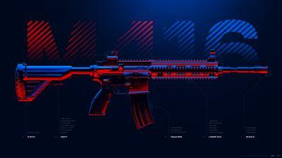 M416, Assault rifle, PUBG MOBILE, PlayerUnknown's Battlegrounds