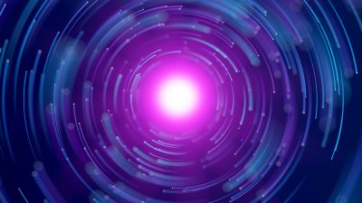 Spiral, Glowing, Purple, Circles, Blue, Experiment, Render