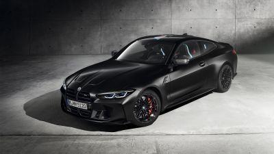 BMW M4 Competition, Black cars, 2020, 5K