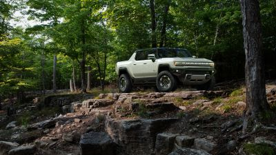 GMC Hummer EV, Electric SUV, Off-roading, Forest, Luxury SUV, Electric trucks, 2022, 5K